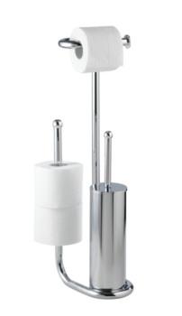 Wenko 187302 Universalo WC-papír és kefetartó álló+tartalék papírtartó - </b>RAKTÁRON