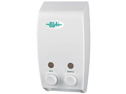 Bisk 00174 szappanadagoló dupla, fehér - 2x400 ml