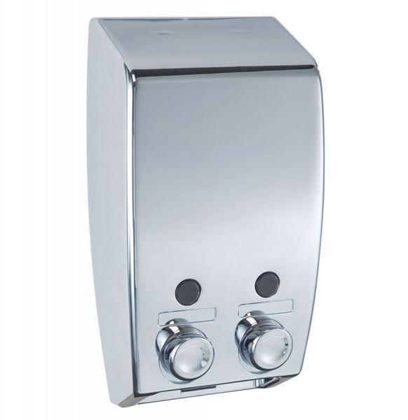 Bisk 00175 szappanadagoló dupla, króm 2x400 ml