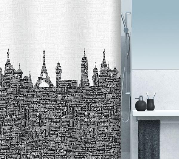 Spirella 10.15558 Urban zuhanyfüggöny fekete