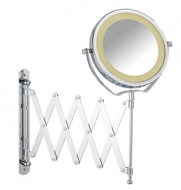 Wenko 365779 kozmetikai tükör fali Brolo LED világítással