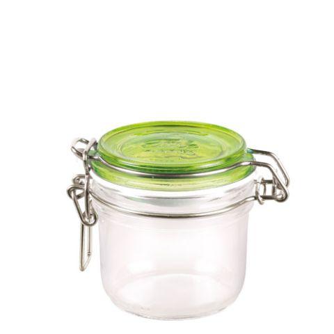 Bormioli Rocco 72495 Befőttes üveg 200 ml zöld tetővel