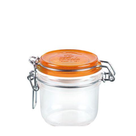 Bormioli Rocco 72496 Befőtes üveg 200 ml narancs tetővel