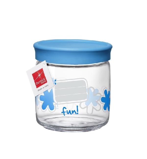 Bormioli Rocco 04265 Üveg tetővel kék - </b>RAKTÁRON