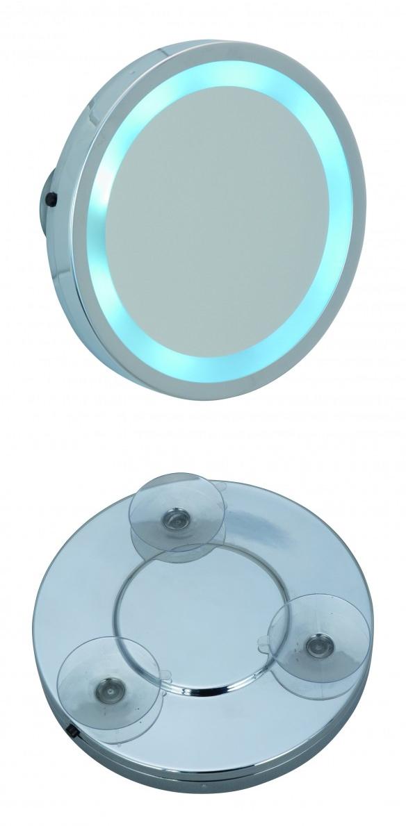 Wenko 365892 kozmetikai tükör fali LED vílágítással tapadókorongos