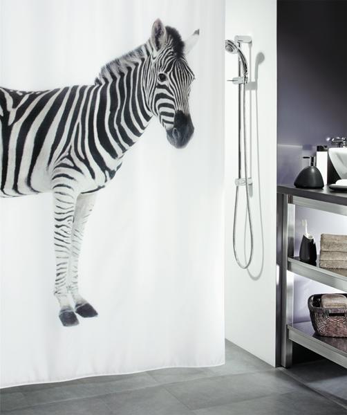 Spirella 10.11554 Zebra zuhanyfüggöny