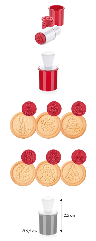 Tescoma 630114 Kekszpecsét, linzerformázó karácsonyi