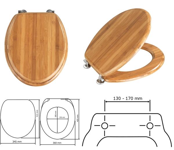 Wenko 144725 WC ülőke, Bambus sötét