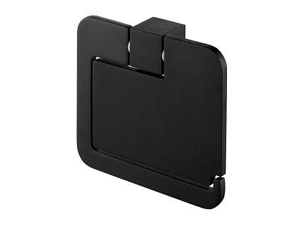 Bisk 02961 Futura black WC-papír tartó fedeles