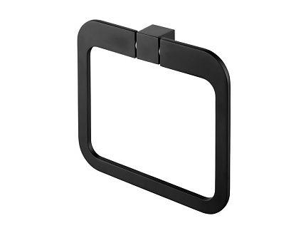 Bisk 02969 Futura black törölközőtartó gyűrű