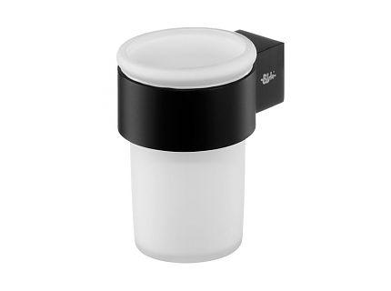 Bisk 02959 Futura black pohár fali tartóval