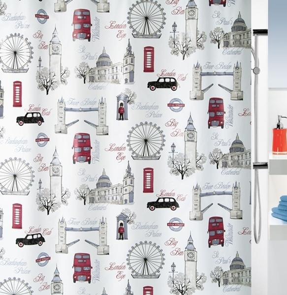 Spirella 10.17898 Westminster zuhanyfüggöny 180x200 sand-red