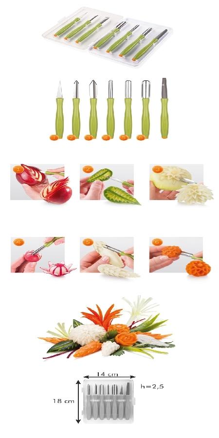 Tescoma 422010 Zöldség dekorációs készlet