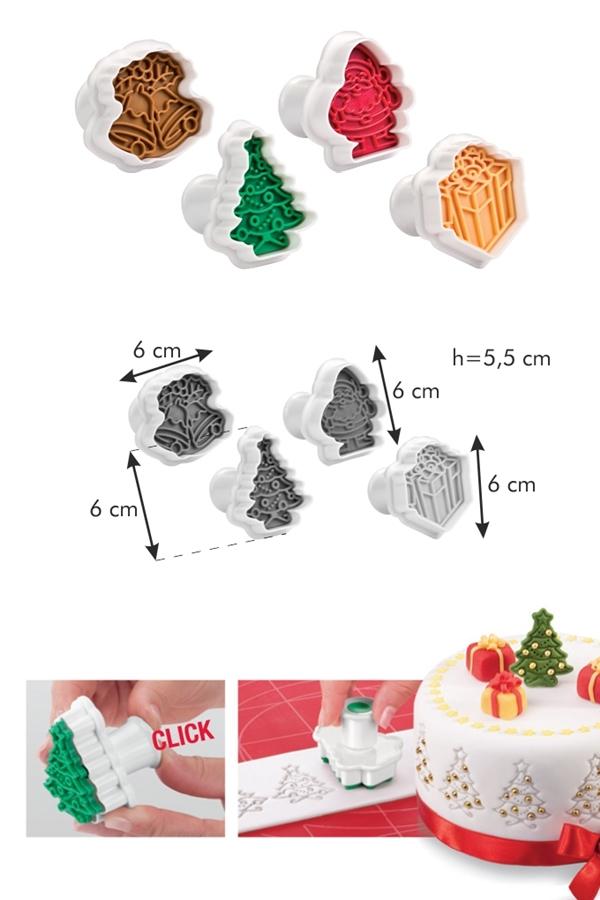 Tescoma 630857 Keksz, linzer formázó, pecsét karácsonyi - </b>RAKTÁRON