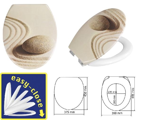 Wenko 893685 WC-ülőke Sabbia lecsapódásgátlóval