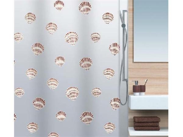 Spirella 10.15239 Shell zuhanyfüggöny, barna