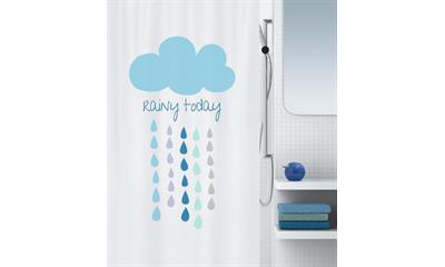 Spirella 10.18472 Cloud kék zuhanyfüggöny