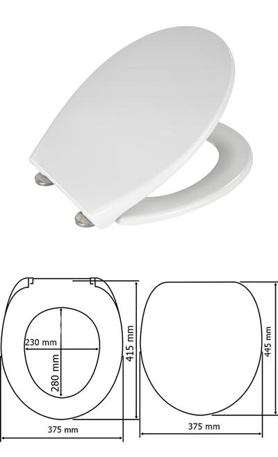 Wenko 435953 WC ülőke Samos fehér