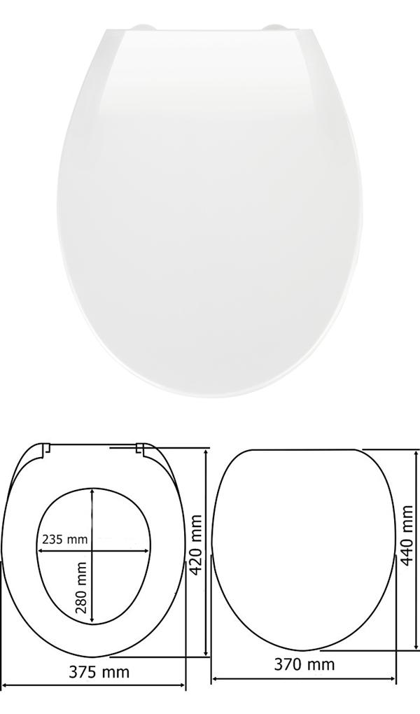 Wenko 722510 WC ülőke Kos, fehér