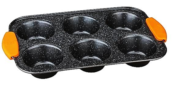 Berlinger Haus BH-1137 Granit Diamond Line Muffin sütő 6 db-os
