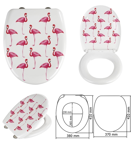 Wenko 160534 WC ülőke, Flamingo