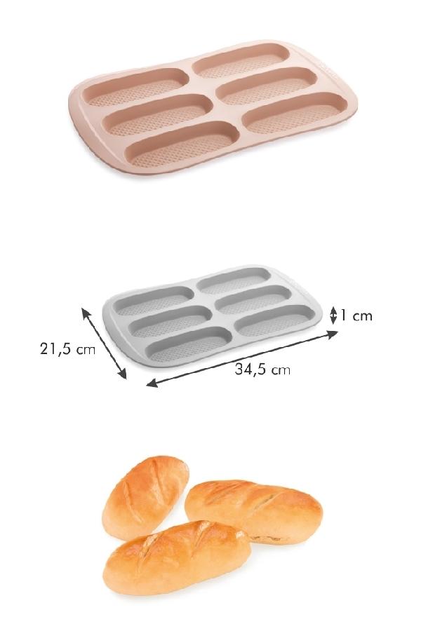 Tescoma 629510 Szilikonos sütőforma - baguette mini