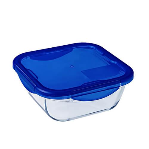 Pyrex 27508 Cook-Go Üvegtál + műanyag tető 16X16 cm