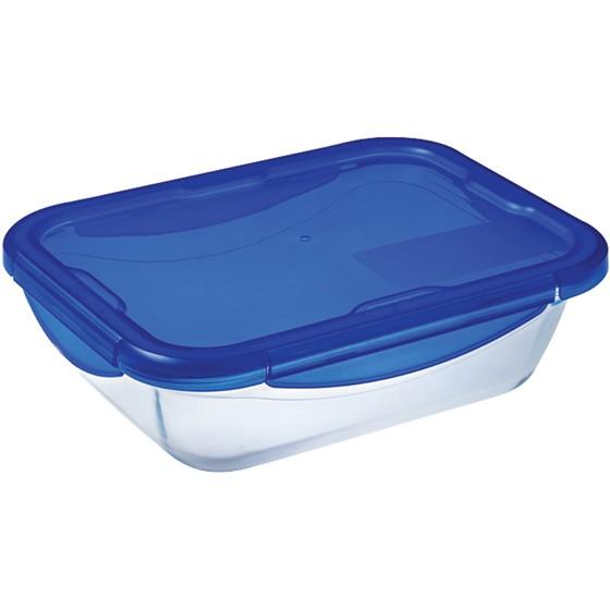 Pyrex 27506 Cook-Go Üvegtál + műanyag tető 24X18 cm