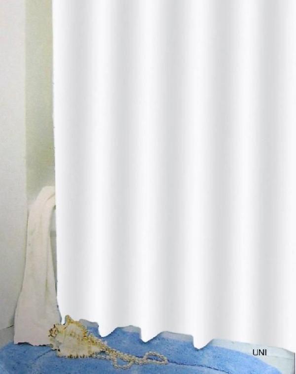 Bisk 03502 Uni zuhanyfüggöny fehér