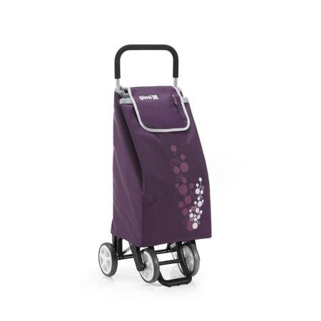 Gimi 392003 Twin bevásárlókocsi tolható-húzható lila