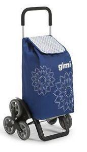 Gimi 392027 Tris bevásárlókocsi Floral blue lépcsőjáró
