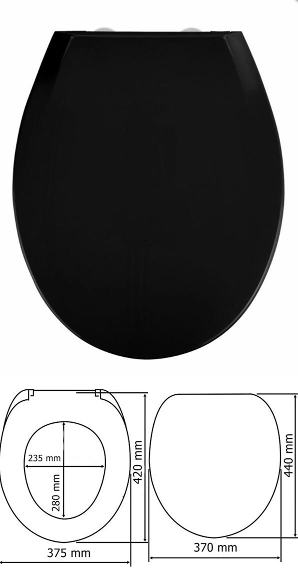 Wenko 253915 Kos WC ülőke, fekete - </b>RAKTÁRON