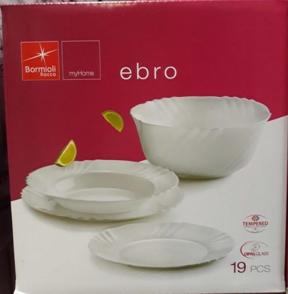 Bormioli Rocco 202001 Ebro étkészlet 19 db-os fehér