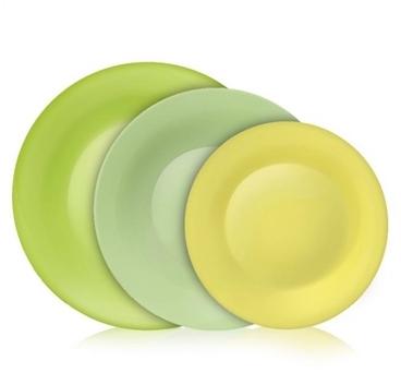 Bormioli Rocco 202039 Tone Green étkészlet 18 db-os zöld