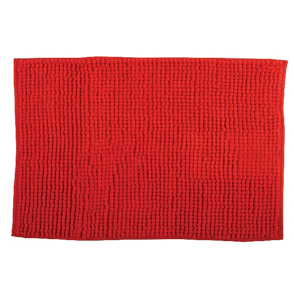 MSV 141610 Chenille Fürdőszobaszőnyeg 40x60 cm, piros