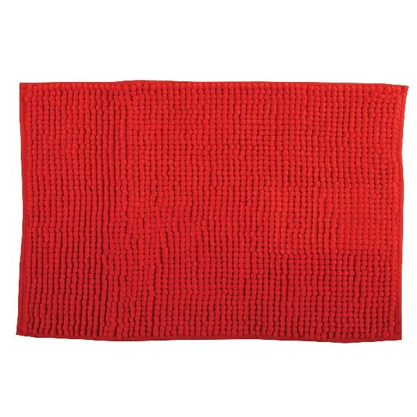 MSV 141621 Chenille Fürdőszobaszőnyeg 60x90 cm, piros