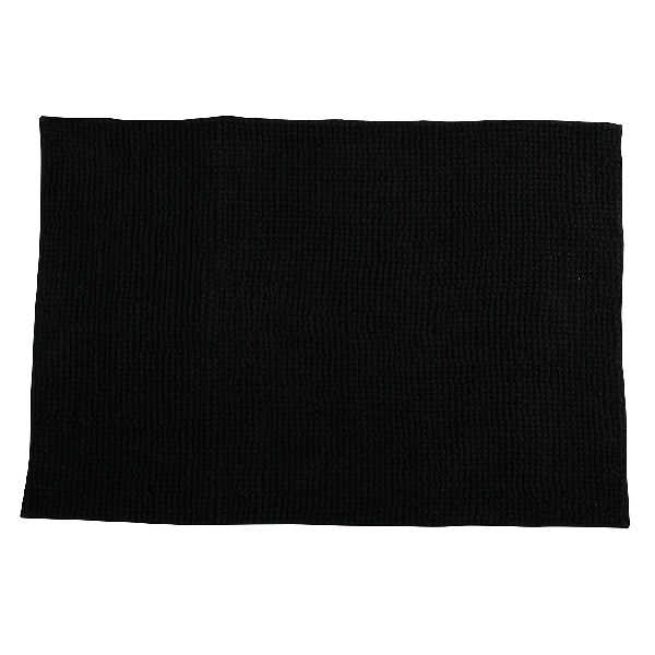 MSV 141626 Chenille Fürdőszobaszőnyeg 60x90 cm, fekete