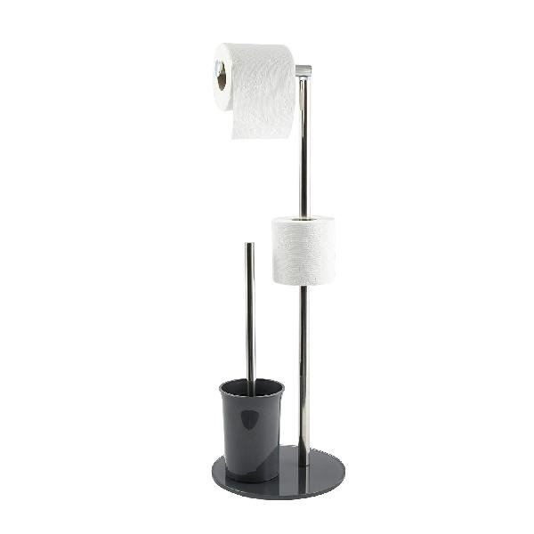 MSV 141363 WC papír és kefetartó szürke