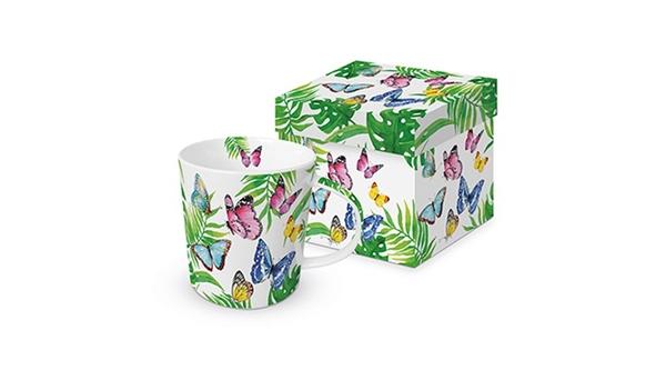 PPD 603561 M Porcelán bögre dobozban 0,35 l Tropical Butterfiles