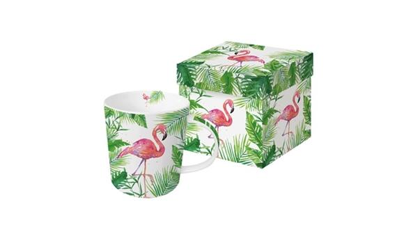PPD 603264 M Porcelán bögre dobozban 0,35 lTropical Flamingo