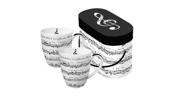 PPD 601344 P Adagio porcelán bögre dobozban 0,35 l 2 db-os