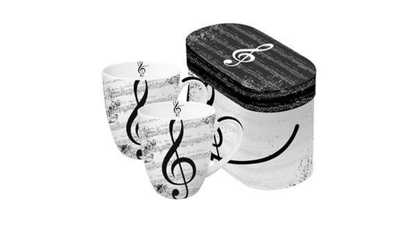 PPD 603062 P I love Music porcelán bögre dobozban 0,35 l 2 db-os