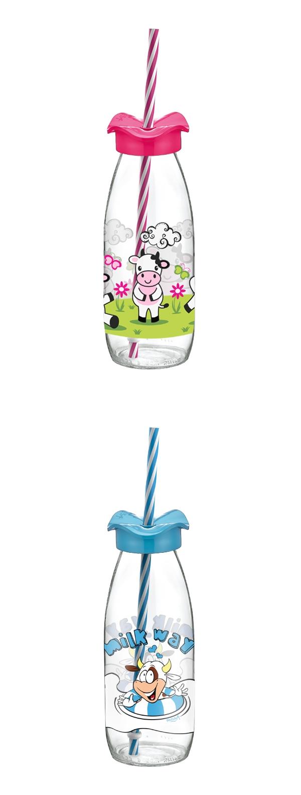Renga 151954 R Szívószálas üveg 0,5 l