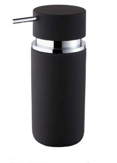 Bisk 06593 Round szappanadagoló, fekete