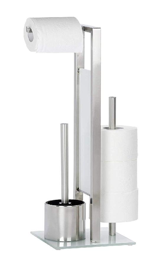 Wenko 246870 Rivalta WC-papír és kefetartó álló+tartalék papírtartó